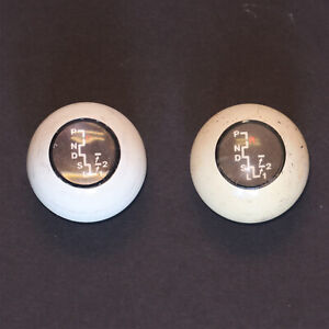 Hurst Original Real Auto Stick Shift Knobs 2 Used Scratched
