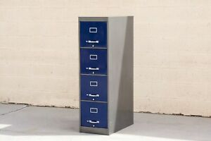 1960s 4 drawer Vertical Filing Cabinet Custom Refinished To Order