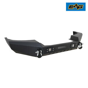 Eag Front Bumper With Led Lights Fit 1999 2004 Jeep Grand Cherokee Wj