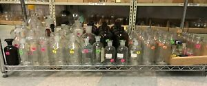 Lot Of Bottles vials Chemistry Lab Glassware