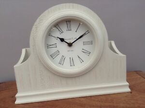 New Next Vintage Style Cream Wooden Wood Letter Rack Mantle Clock Rrp 28 Home