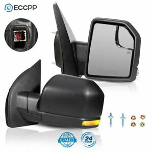 Eccpp For 2015 18 Ford F 150 Power Heated Turn Signal Right left Side Mirror