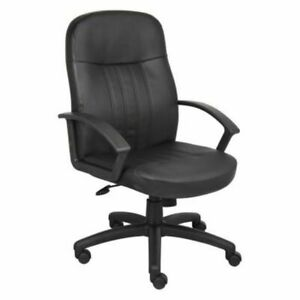 Leather Plus Executive Manager Office Desk Chair Heavy Duty High Back Ergonomic