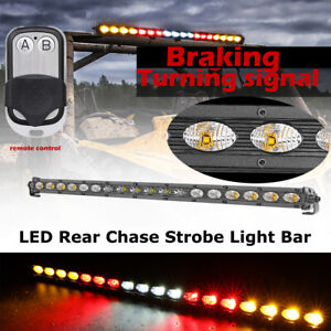 20 in Cree Single Row Led Light Bar Strobe Turn Braking Signal Driving Atv Truck