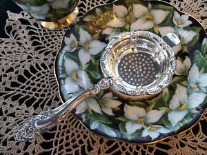 Sterling Silver Tea Strainer Gorham Decor Pattern