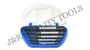 Vct 5pc Screw Extractor Set Easy Out Drill Bits Guide Broken Screw Bolt Remover