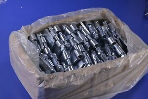 Case Of 100 Zinc plate 1 2 Steel Beam Cable C clamp Locknut 400 Lbs 47 e 0 50