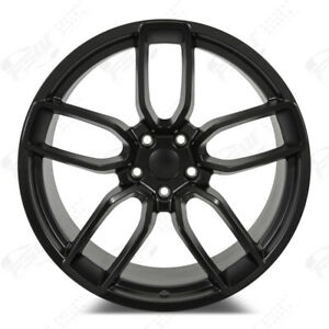 20 Stagger Dodge Widebody Replica Satin Black Wheels Rims Fit Challenger Charger