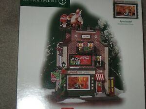 Dept 56 Coca Cola Soda Fountain Christmas in the City MINT never out of box