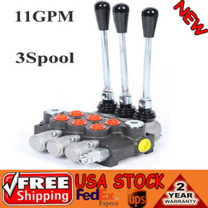 3 Spool Hydraulic Control Valve Double Acting 11 Gpm 3600 Psi Manual Operation