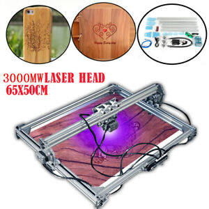 3000mw 2 axis Desktop Laser Engraving Machine 65x50cm Diy Wood Carve Printer