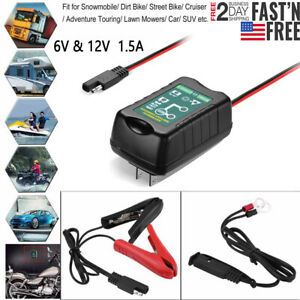 6v 12v Trickle Battery Charger Maintainer For Boat Lawn Mower Tractor Car Marine