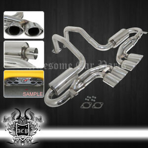 For 97 04 Chevy Corvette Ls1 Z06 Oval Quad Tips Muffler Axle Back Exhaust System