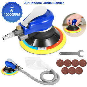 10000 Rpm 6inch Air Palm Orbital Sander Random Hand Sanding Pneumatic Round Best