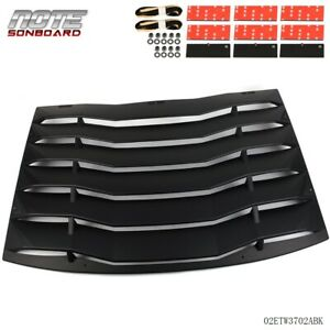 Fits For 2011 2020 Charge Rear Window Louver Cover Vent Unpainted Black Abs