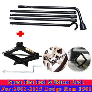 Tire Repair Tool Kit Scissor Jack For 2012 2013 2014 Dodge Ram 1500 Steel New