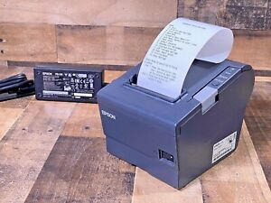 Epson Tm t88v M244a Thermal Pos Receipt Printer With Power Supply Usb