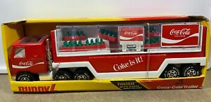 Vintage 1983 Buddy L Coca Cola Trailer Delivery Truck In Box
