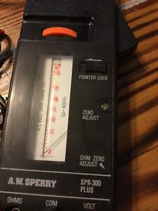 Vintage Snap Around Amp Meter Aws Td 2608 W carry Case Leads And Manual