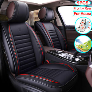 Car Seat Cover Pu Leather Auto Front Rear Cushion Fit For Acura Rdx Tl Integra