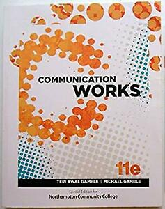 Communication Works quot;Special for Northampton Community Collegequot; Hardcover $4.49