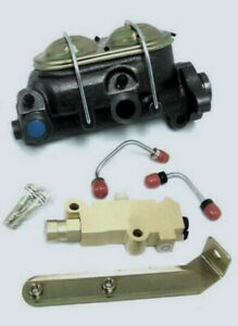 Gm A Body Power Master Cylinder W Bleeders Disc Drum Proportioning Valve Kit