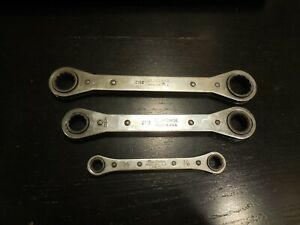 3 Qty Old Forge New Britain Ratcheting Box End Wrenches Free Usa Shipping