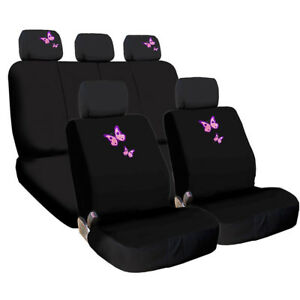 For Kia New Butterfly Design Front Rear Car Truck Suv Seat Covers Set