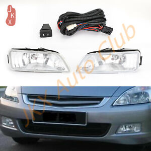 Fog Light Driving Lamp W Harness Switch Kit K Fit For Honda Accord Acura 03 07