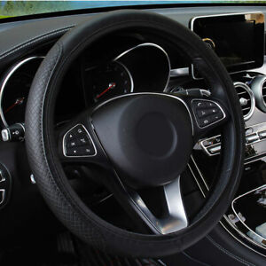 Charm Car Vehicle Faux Leather Anti Slip Steering Wheel Wrap Cover Protector
