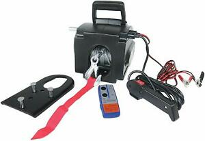 Electric Boat Atv utv Winch Capacity 7500 Lbs Cable 12 Volt Motor Cable Portable