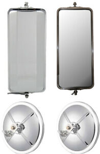 Stainless Steel West Coast Mirrors And 8 5 Chrome Convex Truck Mirrors