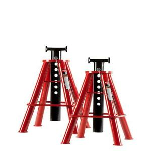 New 10 Ton Medium Height Pin Type Jack Stands 29 9in Max Length Truck Rig Garage