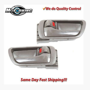 Brown Front rear Left right Inside Door Handle 02 06 For Toyota Camry 2 4l 3 0l