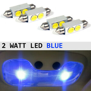 4 Ultra Blue 42mm 5050 Led Festoon Dome Interior Light Bulbs De3425 6411 6418