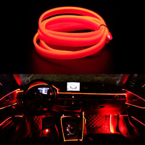 Led Red 5m Interior Cold Light Atmosphere Lamp Wire Strip Decoration 12v Ch2