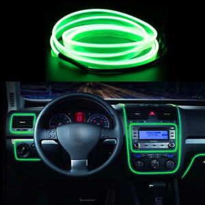 Led Green 5m Interior Cold Light Atmosphere Lamp Wire Strip Decoration 12v Ch2