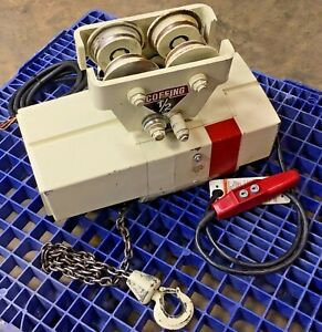 Coffing Ect1016 1 2 ton Electric Chain Hoist 3phase 1 2hp 10ft Chain 16fpm