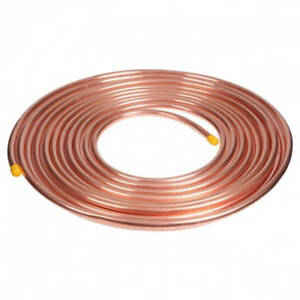 3 8 Od X 50 Feet Soft Copper Refrigeration Tube Coil Ac Made In Canada Or Usa