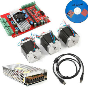 1 8nm Stepper Motor Usb 3axis Nema23 Cnc Driver Kits Power Supply For Router