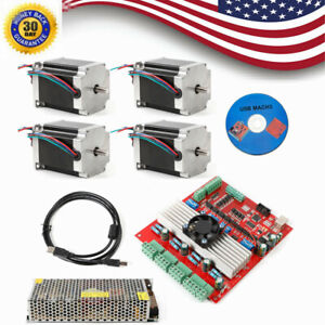 Stepper Motor Kit Nema23 4axis 290oz in 4a Usb Driver 4axis Board Supply Cnc