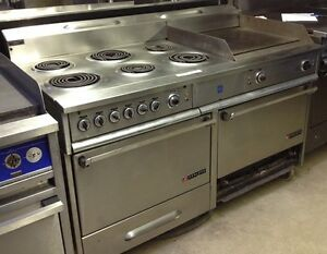 Garland 6 Burner Electric Range With 24 Flat Top Grill And Double Ovens