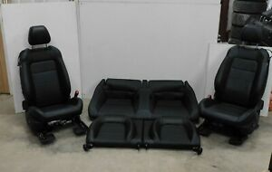 2015 2017 Ford Mustang Gt Black Leather Front And Rear Seat Set Power Oem