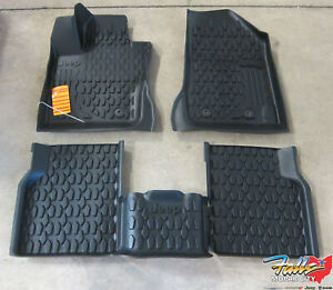 2017 2020 Jeep Compass Front Rear Black All Weather Floor Mats New Mopar Oem