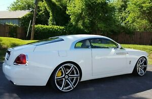 Used 24 Forgiato F2 20 Ecl Concaved Wheels Tires Rolls Royce Ghost Wraith Dawn