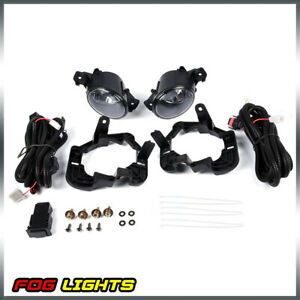 Clear Fog Lights Lamps frame wiring Switch Kit For 07 2012 Nissan Altima 4dr