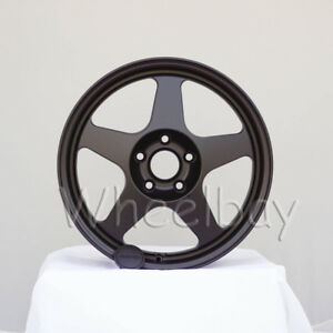 4 Pcs Rota Wheel Slipstream 17x8 48 5x114 3 73 F Black