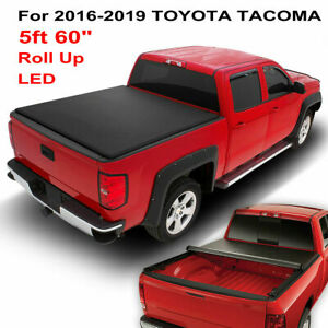 For 2016 2019 Toyota Tacoma 5 Ft 60 Short Bed Lock Roll Up Soft Tonneau Cover