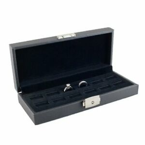 Caddy Bay Collection Wide Slot Jewelry Ring Display Storage Case Holds 12 Rings