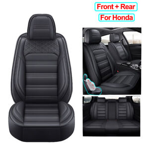 Pu Leather Car Seat Cover Universal Full Set Fit For Honda Crv Clarity Insight